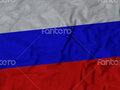 Close up of Ruffled Russia flag