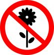 Flowers to not give.