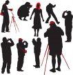 Photographers shooting model
