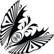 deco swirl butterfly corner