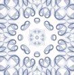 Blue Swirl Seamless Tile