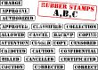 Rubber stamps collection ABC