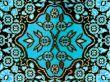 classic fabric rug floral motif