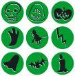 Nine different halloween icons