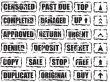 worn square stamp