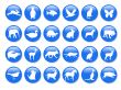 Blue icons with animal shapes,vector,pet