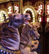 horses on carousel ride