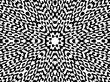black and white radiating symmetry