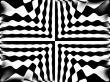 wavy black and white symmetry pattern