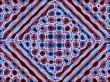 jolly red and blue diamond pattern