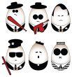 Six vector eggs figure