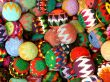 Decorative knitted spheres