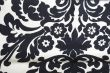 Black and whtie floral pattern texture