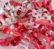 Red and White Valentine Curly Ribbons