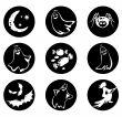 Nine Halloween symbols