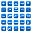 Transport icons, buttons