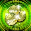 euro on green background