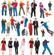 Lots of color people illustrations /vectors/