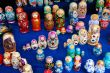Display of Russian Stacking Dolls