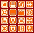 red household icons