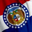Missouri Flag Closeup