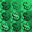 Green pop Dollar signs