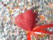 Shining glass beads, spangles and a heart
