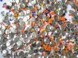Shining glass beads and spangles texture