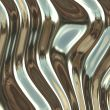 Warped metal chrome