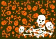 skulls and bones background