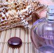 Sea shell and perfume bottle