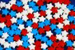 Red white and blue candy stars