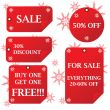 Holiday sale stickers
