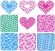 background collection heart rasterized graphic