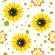 Seamless pattern with sunwlowers