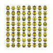 64 yellow bugs
