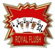 Poker Cards Royal Flush Logo