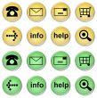set of online shop buttons