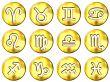 3D Golden Zodiac Signs