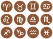 Wooden Framed Zodiac Signs
