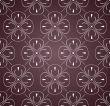 Seamless ornamental pattern on violet background