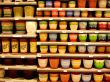 Story shelving, flowerpots
