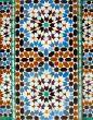 walll tiles at Ali Ben Youssef Madrassa in Marrakech