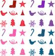 Abstract vector illustration of snowflake schristmas icons and g
