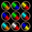 Nine multi-colored icons