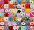 A large collection of hand-knitted items