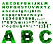 Dots fantasy alphabet - green