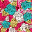 Abstract rose flower seamless. Vector illustration