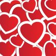 Holiday background with valentines hearts
