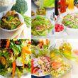 salad collage composition nested on frame